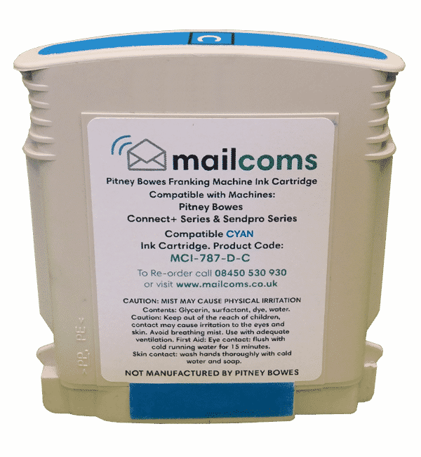 Pitney Bowes Connect+ Series Compatible Cyan Ink Cartridge