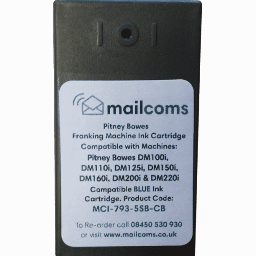 Pitney Bowes DM100i / DM125i / DM150i / DM175i / DM200i Compatible Blue Ink Cartridge