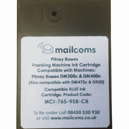 Pitney Bowes DM300M / DM400M Compatible Blue Ink Cartridge