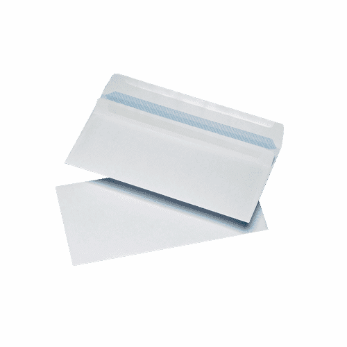 1000 White DL Non Windowed Self Seal Envelopes (110mm x 220mm)