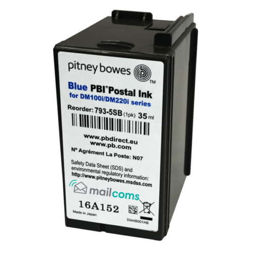 Pitney Bowes SendPro C Original Blue Ink Cartridge